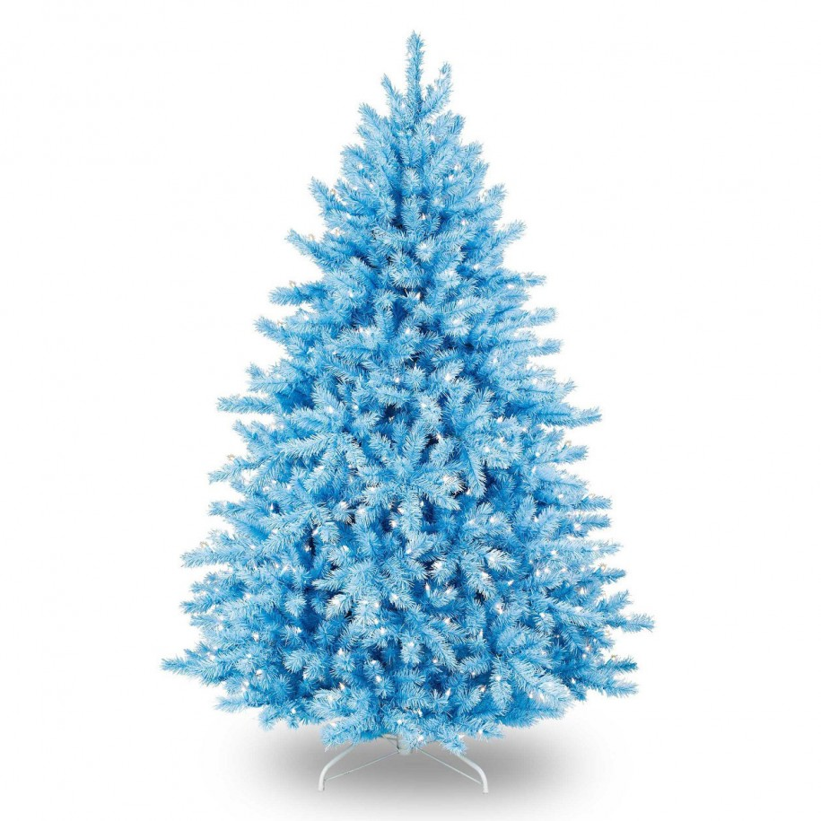 blue artificial christmas tree decoration