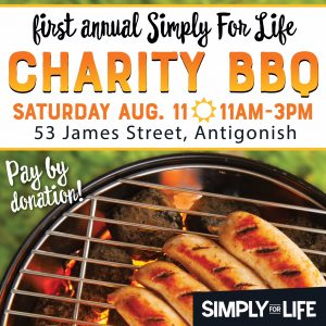 Simply for Life Antigonish charity barbecue @ Simply for Life, Westpoint Building, 53 James Street